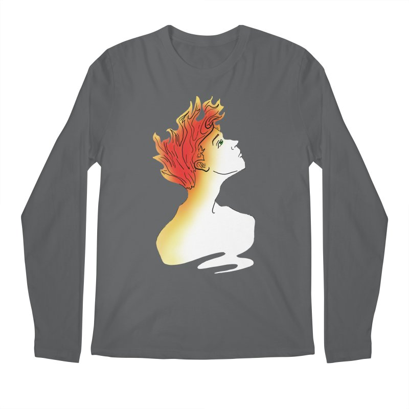 Fire Within Men's Longsleeve T-Shirt by JordanaHeney Illustration