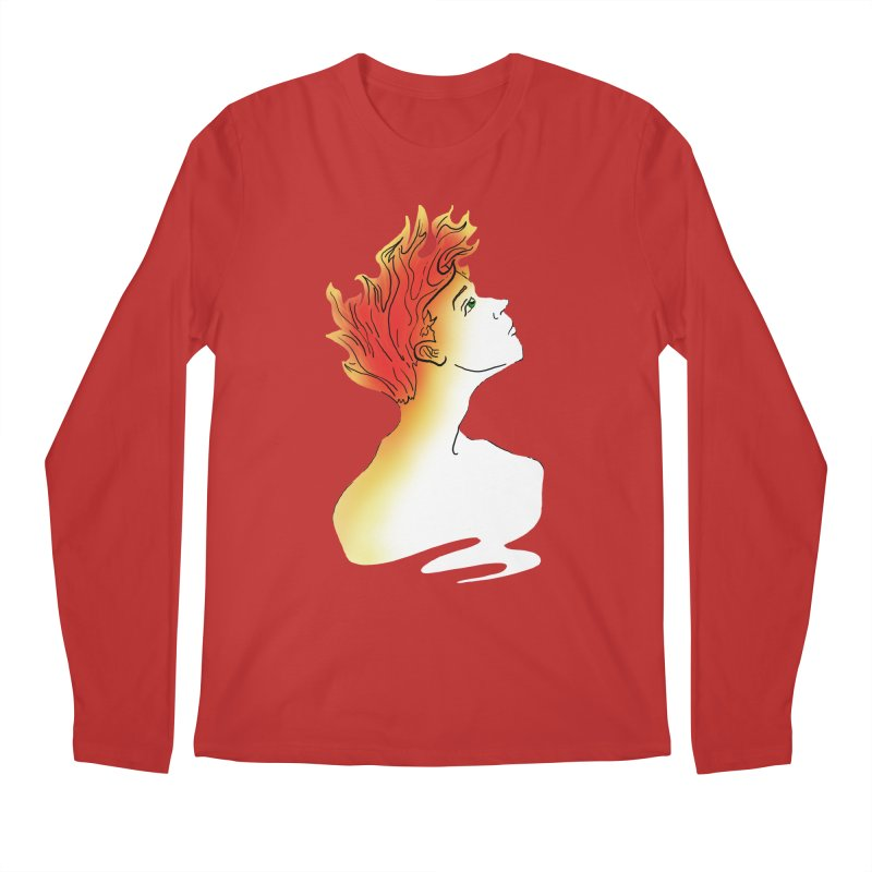 Fire Within Men's Longsleeve T-Shirt by JordanaHeney Illustration