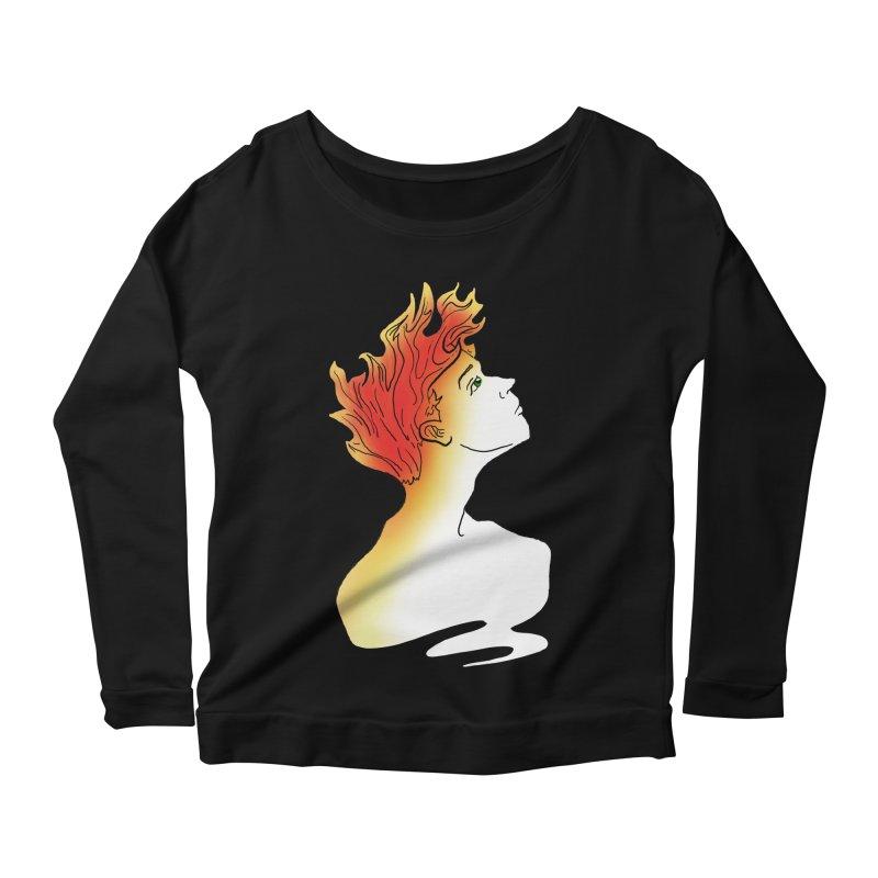 Fire Within Women's Scoop Neck Longsleeve T-Shirt by JordanaHeney Illustration