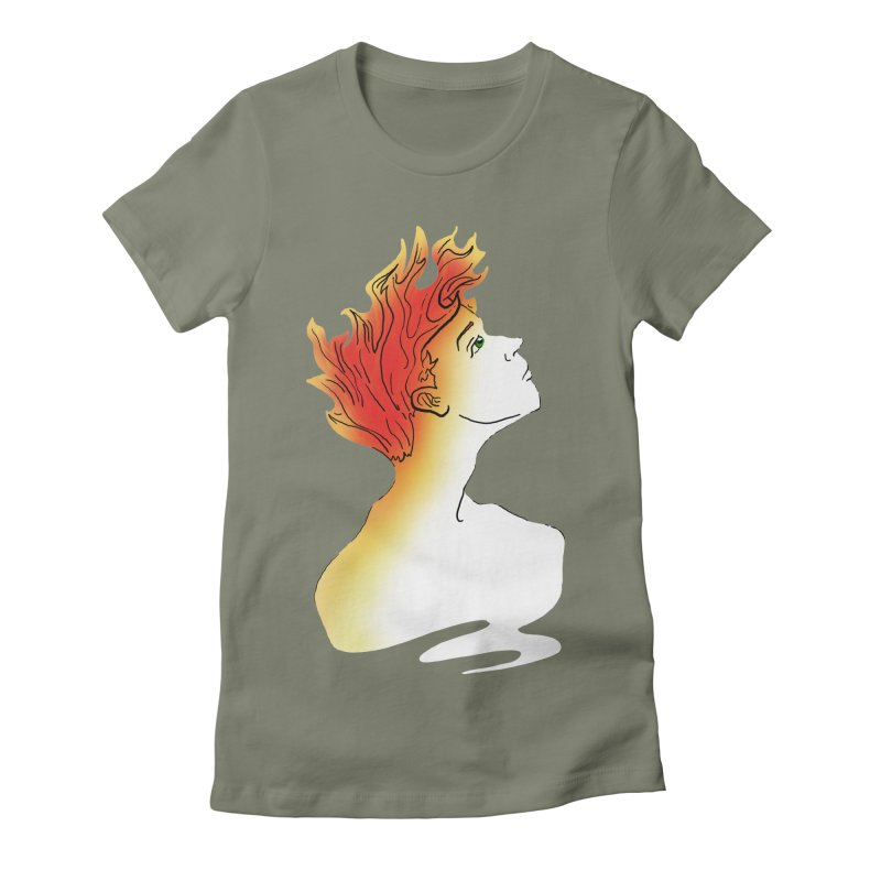 Fire Within Women's Fitted T-Shirt by JordanaHeney Illustration