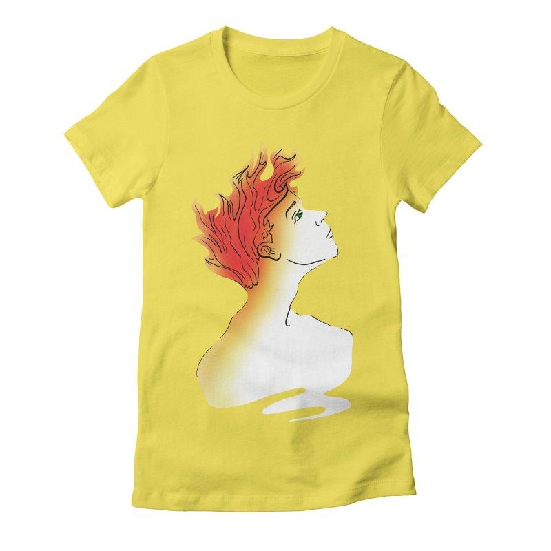 Fire Within Women's T-Shirt by JordanaHeney Illustration