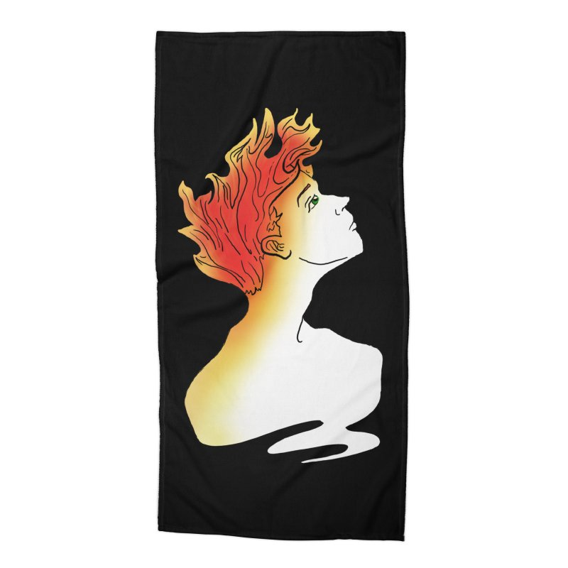 Fire Within Accessories Beach Towel by JordanaHeney Illustration