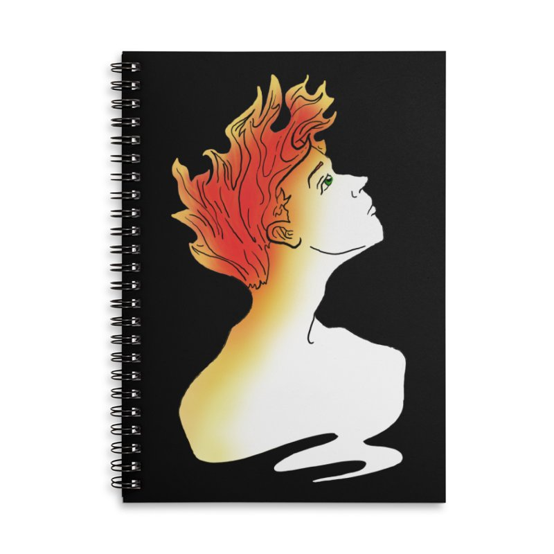 Fire Within Accessories Lined Spiral Notebook by JordanaHeney Illustration