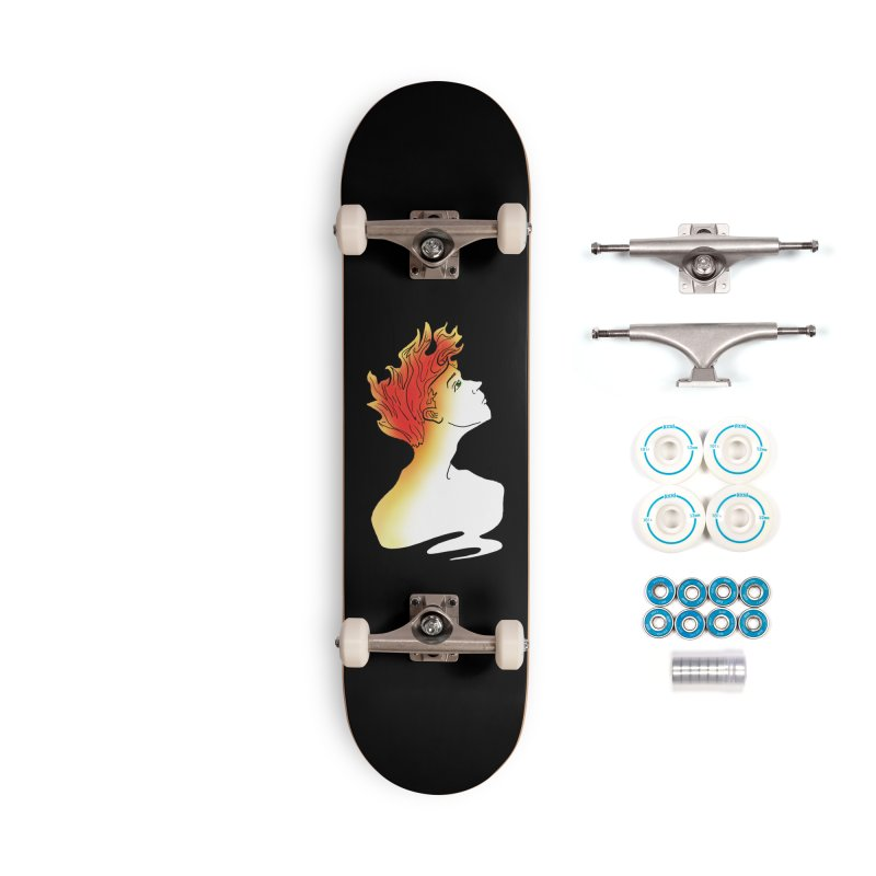 Fire Within Accessories Complete - Basic Skateboard by JordanaHeney Illustration