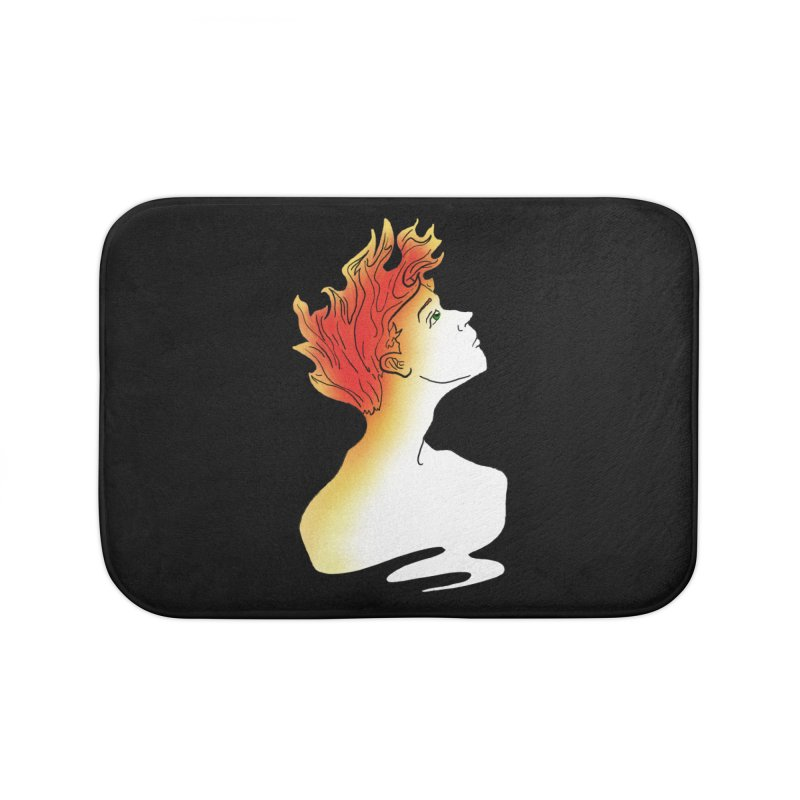 Fire Within Home Bath Mat by JordanaHeney Illustration