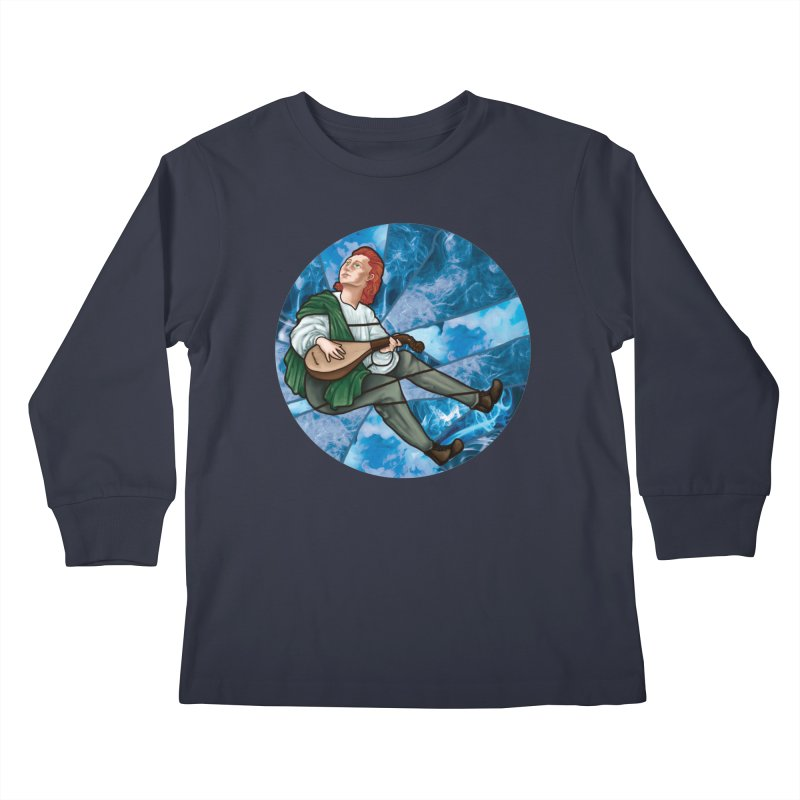 Stained Glass Kvothe Kids Longsleeve T-Shirt by JordanaHeney Illustration