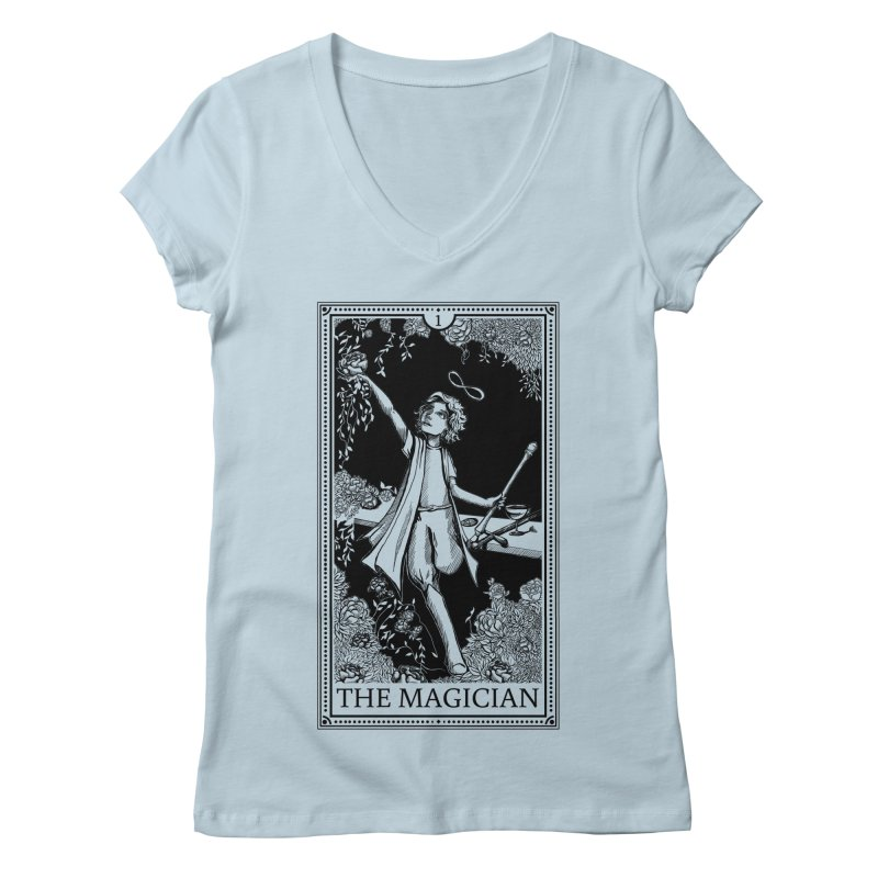 The Young Magician Women's V-Neck by JordanaHeney Illustration
