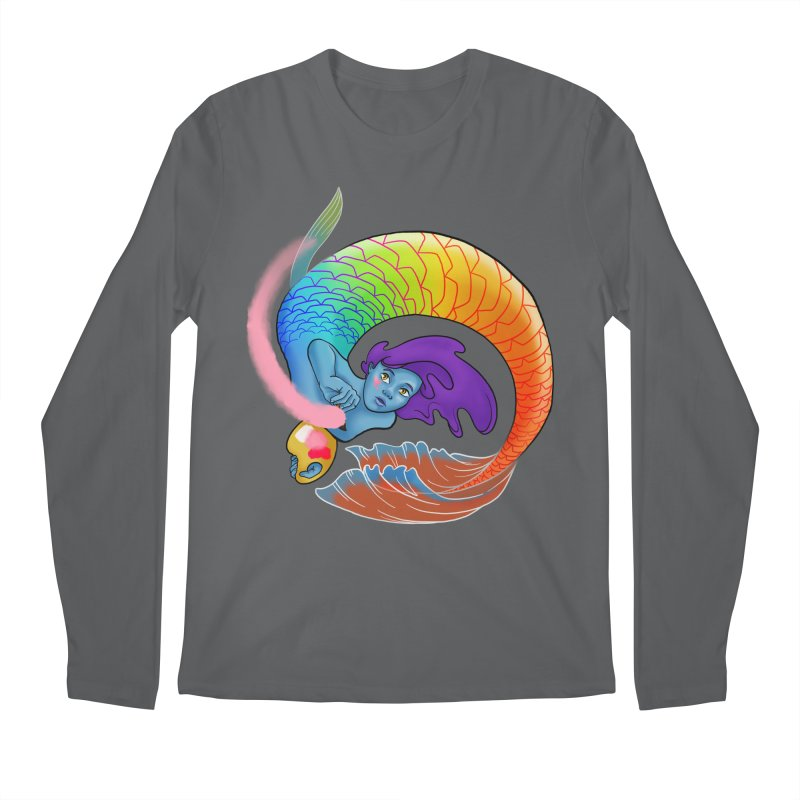Mermaid Artist Men's Longsleeve T-Shirt by JordanaHeney Illustration