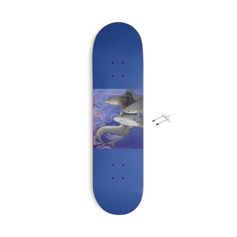 Eager Accessories Skateboard by JordanaHeney Illustration