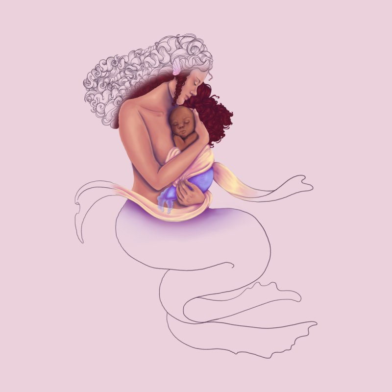 Mother Mermaid Men's Sweatshirt by JordanaHeney Illustration