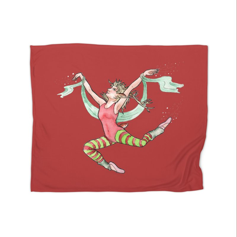 Prancer Home Fleece Blanket Blanket by JordanaHeney Illustration