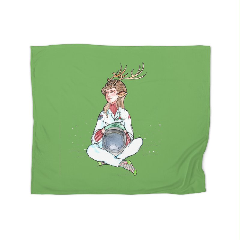 Comet Home Fleece Blanket Blanket by JordanaHeney Illustration