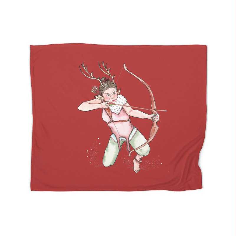 Cupid Home Fleece Blanket Blanket by JordanaHeney Illustration