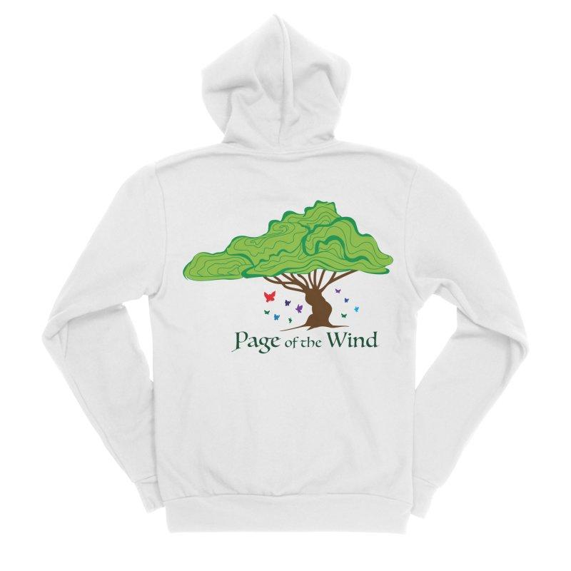 Page of the Wind Women's Sponge Fleece Zip-Up Hoody by JordanaHeney Illustration