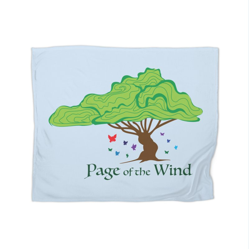 Page of the Wind Home Fleece Blanket Blanket by JordanaHeney Illustration