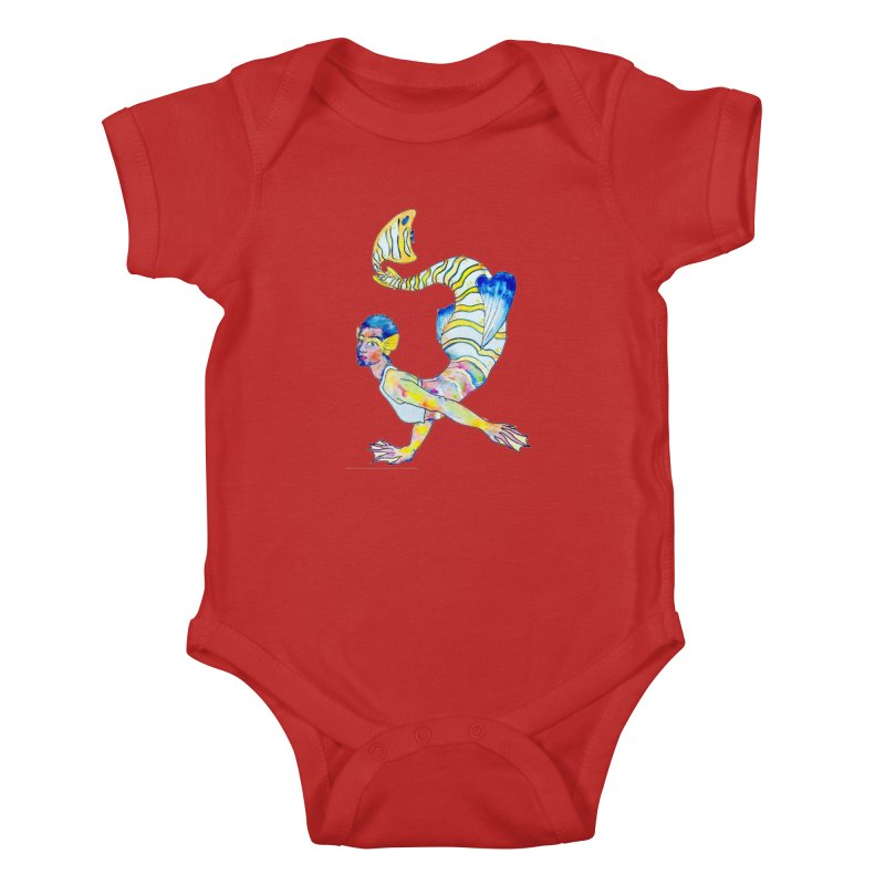 Rainbow Mermaid Kids Baby Bodysuit by JordanaHeney Illustration