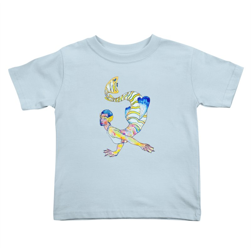 Rainbow Mermaid Kids Toddler T-Shirt by JordanaHeney Illustration