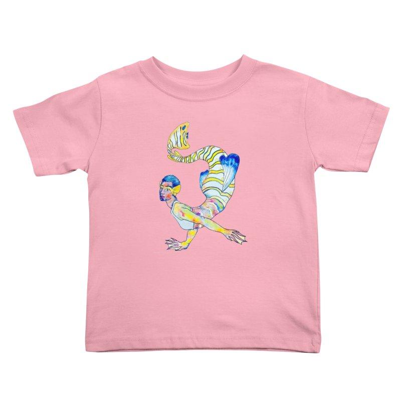 Rainbow Mermaid Kids Toddler T-Shirt by JordanaHeney Illustration