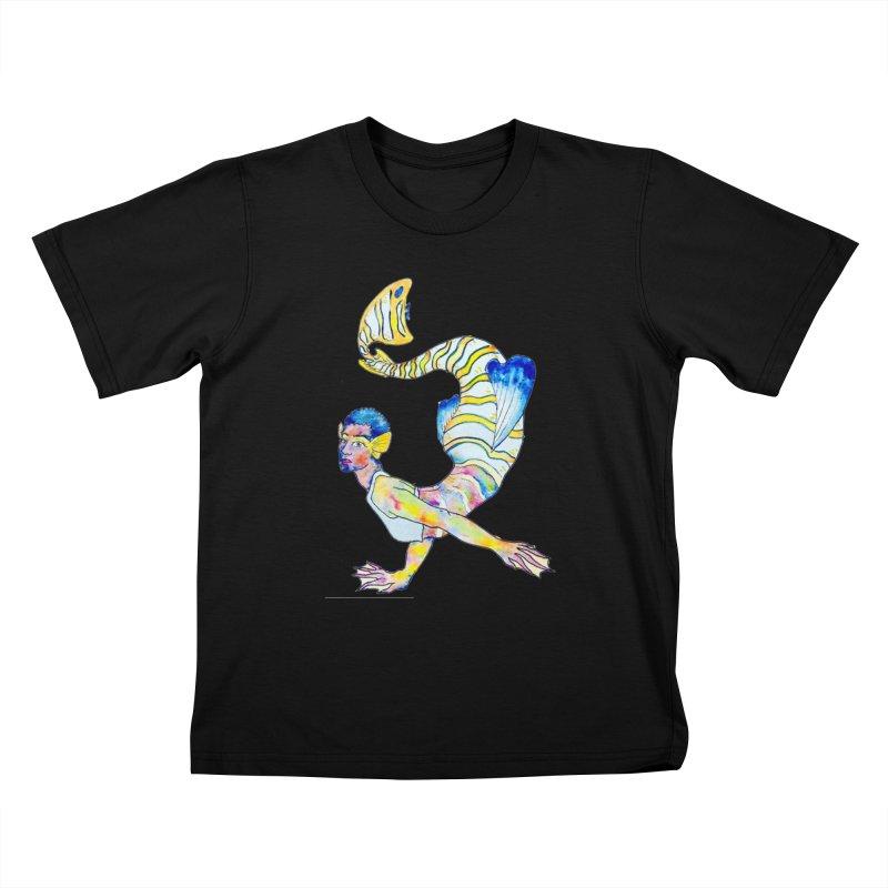 Rainbow Mermaid Kids T-Shirt by JordanaHeney Illustration