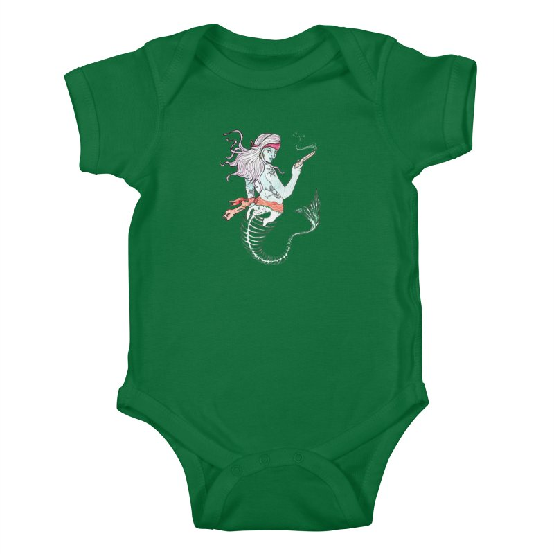 Merr Matey! Kids Baby Bodysuit by JordanaHeney Illustration