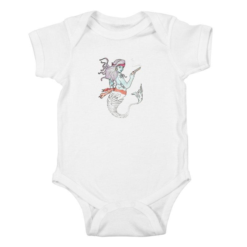 Merr Matey! Kids Baby Bodysuit by JordanaHeney Illustration