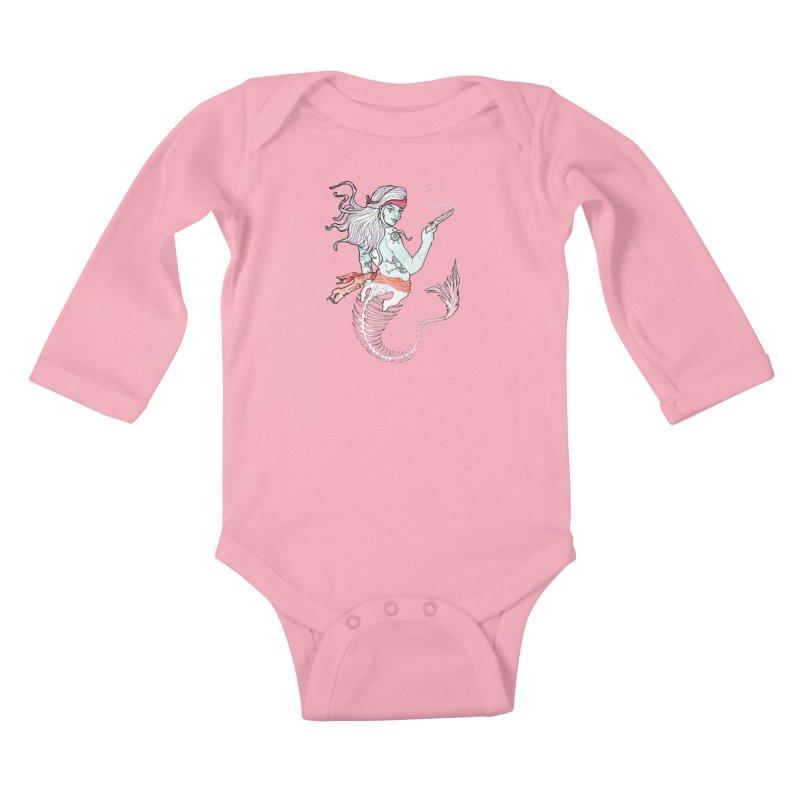 Merr Matey! Kids Baby Longsleeve Bodysuit by JordanaHeney Illustration