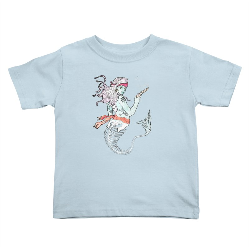 Merr Matey! Kids Toddler T-Shirt by JordanaHeney Illustration