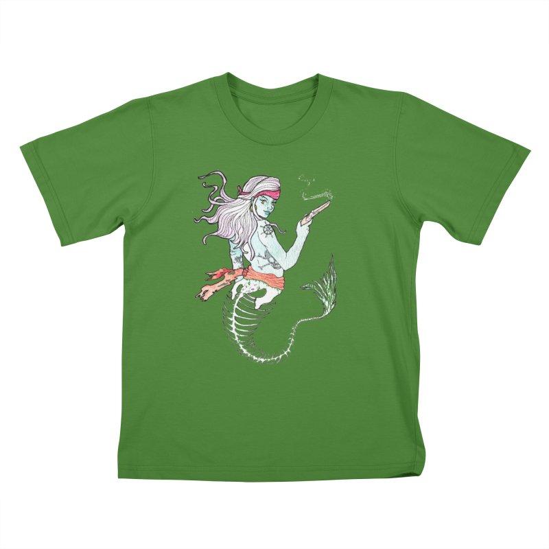 Merr Matey! Kids T-Shirt by JordanaHeney Illustration