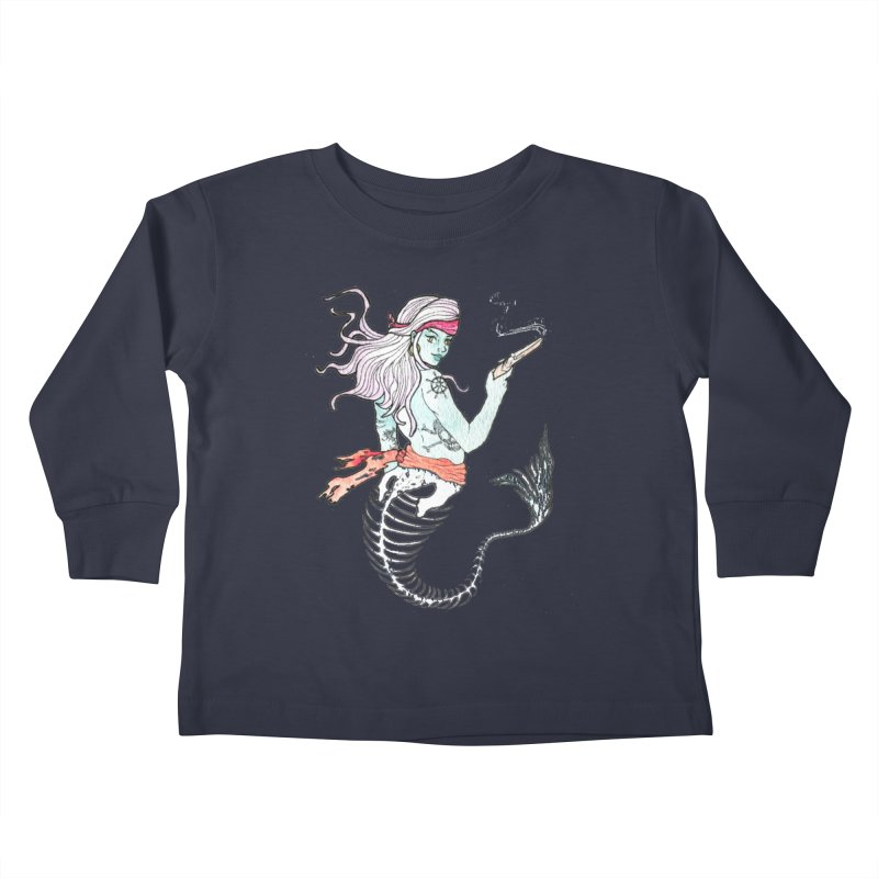 Merr Matey! Kids Toddler Longsleeve T-Shirt by JordanaHeney Illustration