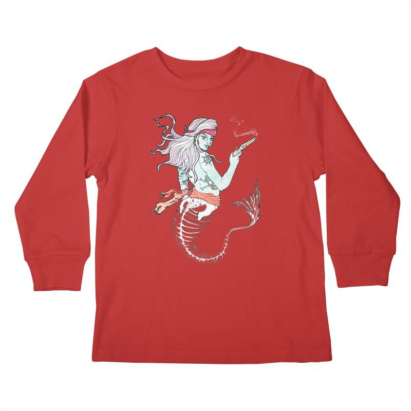 Merr Matey! Kids Longsleeve T-Shirt by JordanaHeney Illustration