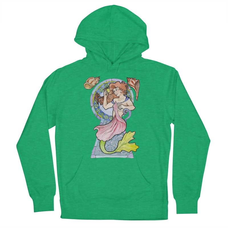 Mucha Mermaid Women's Pullover Hoody by JordanaHeney Illustration