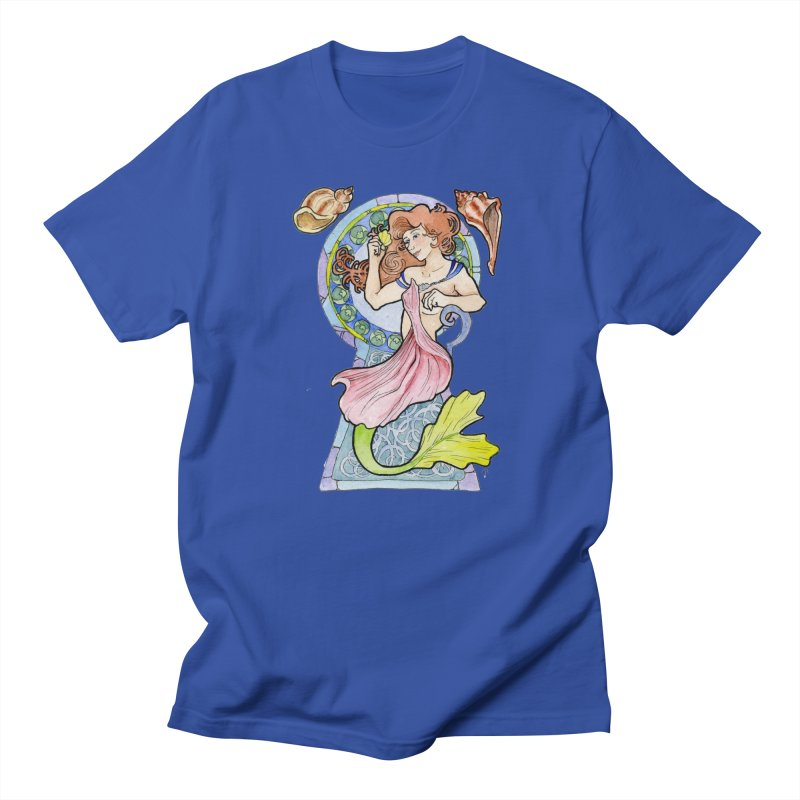 Mucha Mermaid Men's T-Shirt by JordanaHeney Illustration