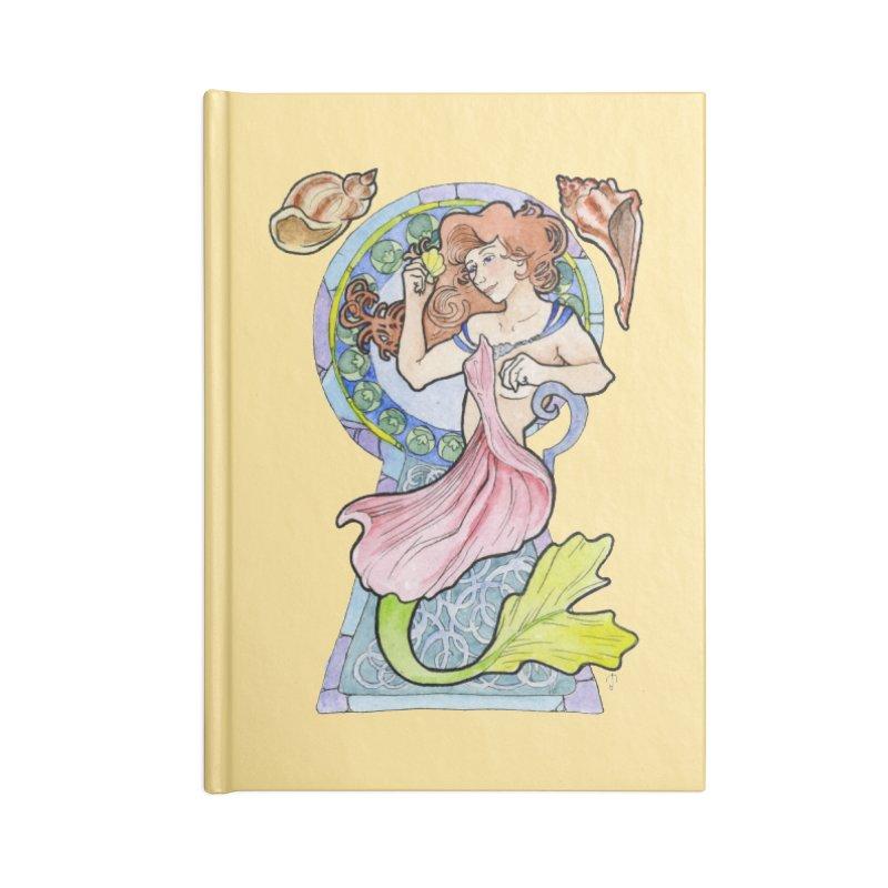 Mucha Mermaid Accessories Notebook by JordanaHeney Illustration