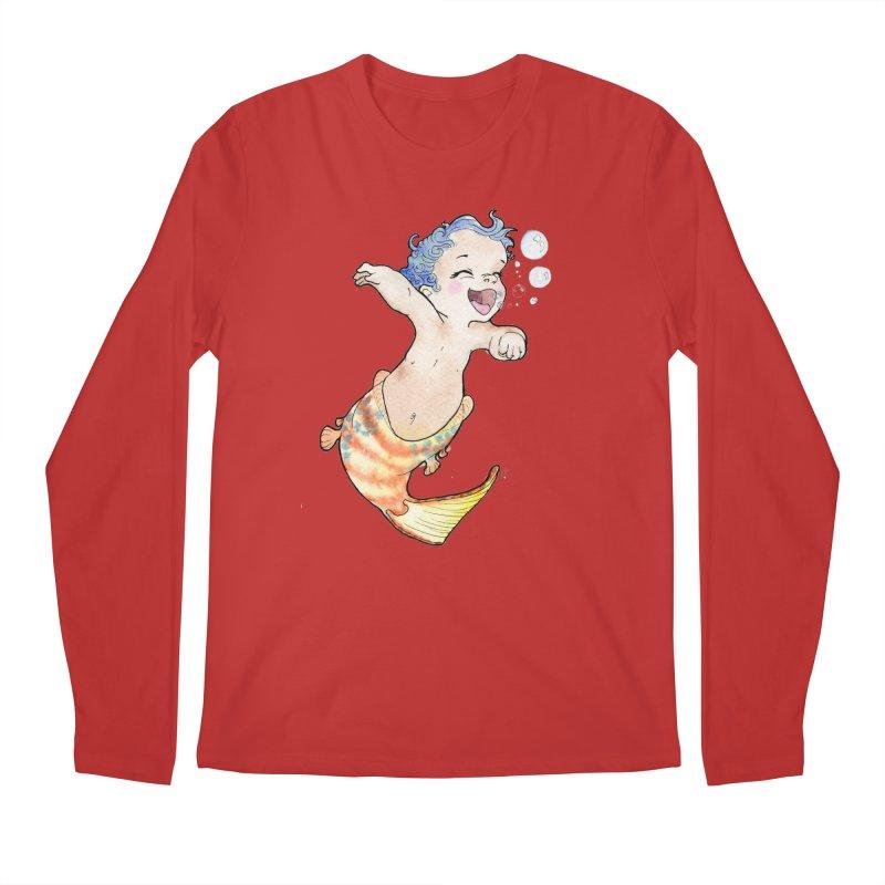 Baby-maid Men's Longsleeve T-Shirt by JordanaHeney Illustration