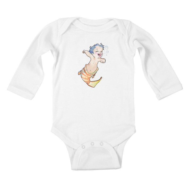 Baby-maid Kids Baby Longsleeve Bodysuit by JordanaHeney Illustration