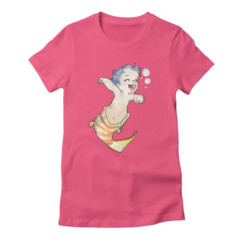 Baby-maid Women's Fitted T-Shirt by JordanaHeney Illustration
