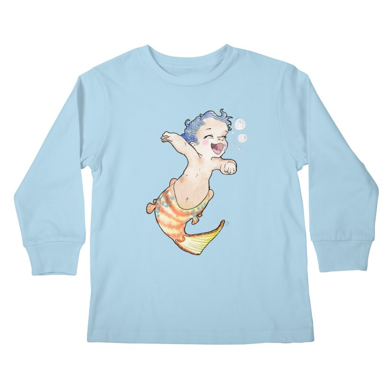 Baby-maid Kids Longsleeve T-Shirt by JordanaHeney Illustration