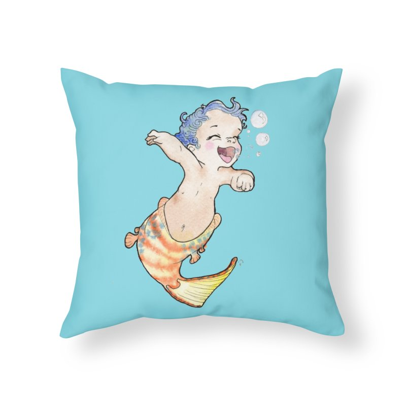 Baby-maid Home Throw Pillow by JordanaHeney Illustration