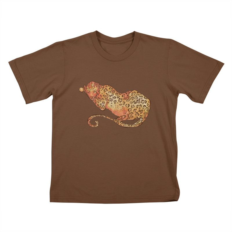 Leopard Kids T-Shirt by JordanaHeney Illustration