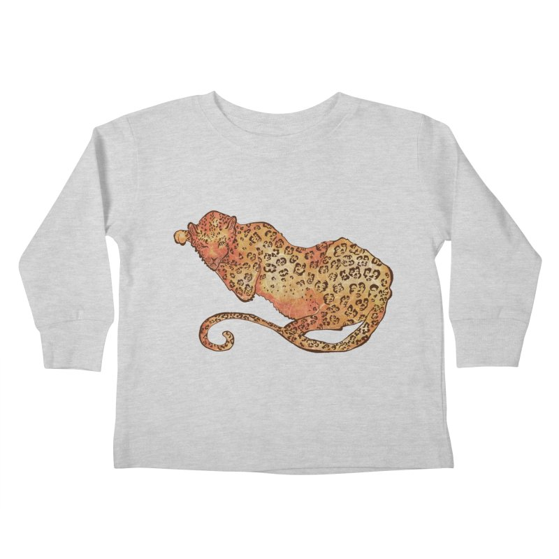 Leopard Kids Toddler Longsleeve T-Shirt by JordanaHeney Illustration