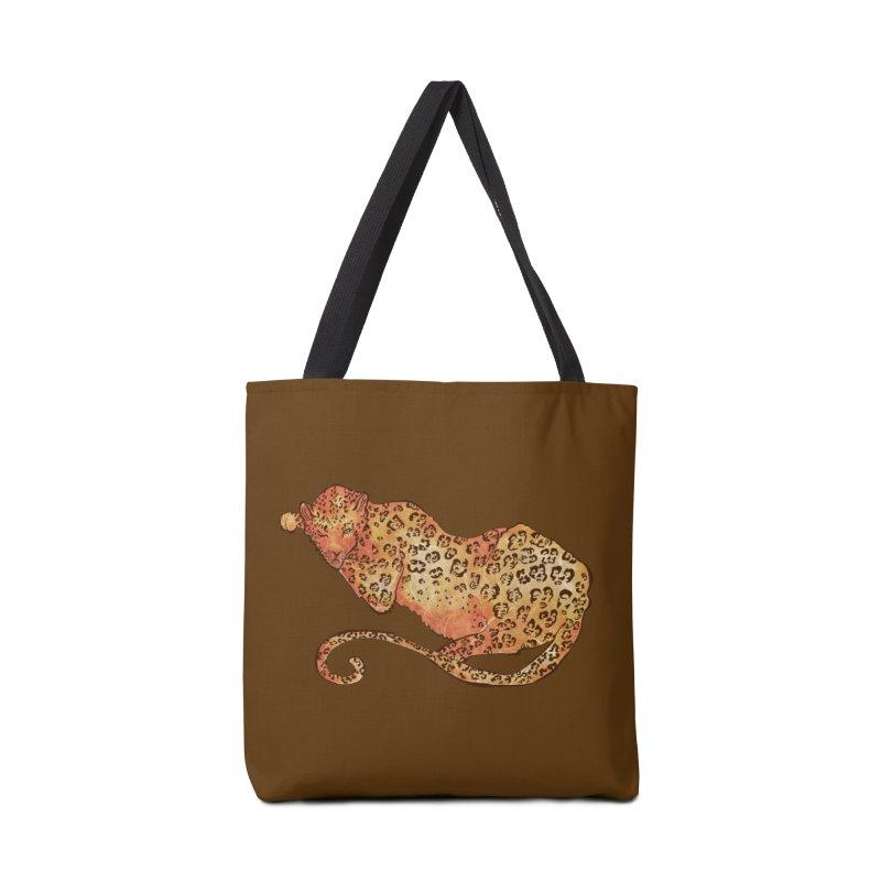 Leopard Accessories Tote Bag Bag by JordanaHeney Illustration