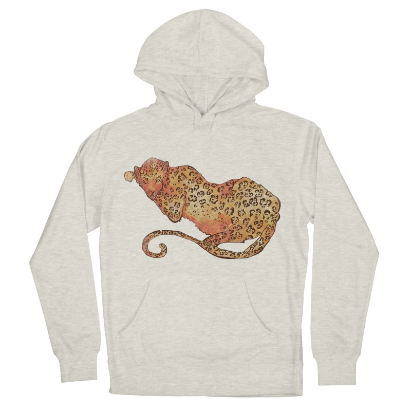 Leopard Men's Pullover Hoody by JordanaHeney Illustration
