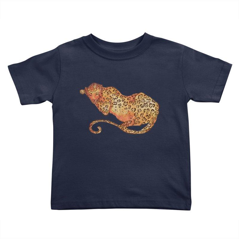 Leopard Kids Toddler T-Shirt by JordanaHeney Illustration