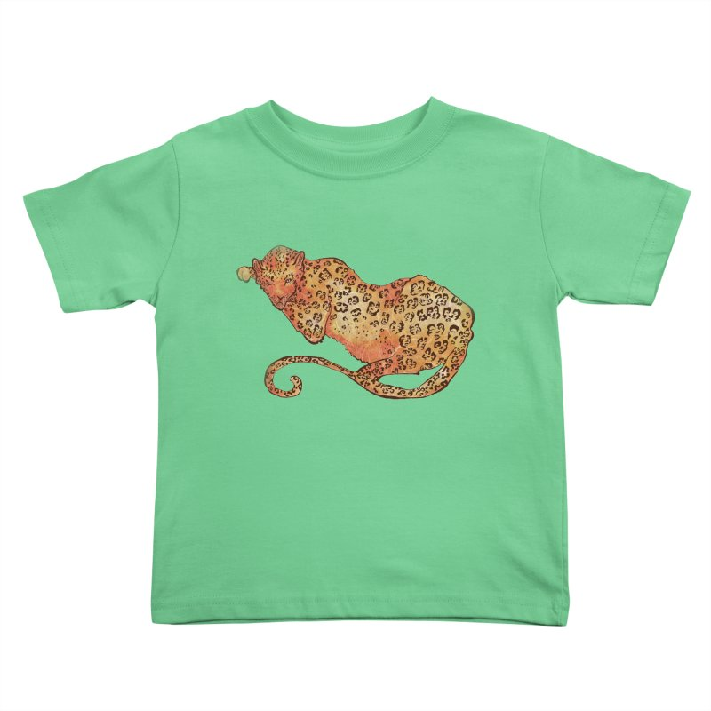 Leopard Kids Toddler T-Shirt by JordanaHeney Illustration