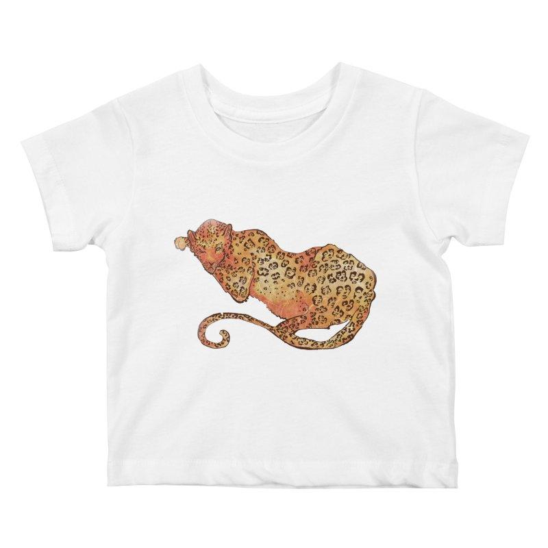 Leopard Kids Baby T-Shirt by JordanaHeney Illustration