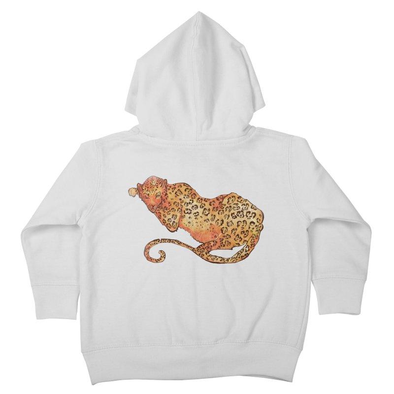 Leopard Kids Toddler Zip-Up Hoody by JordanaHeney Illustration