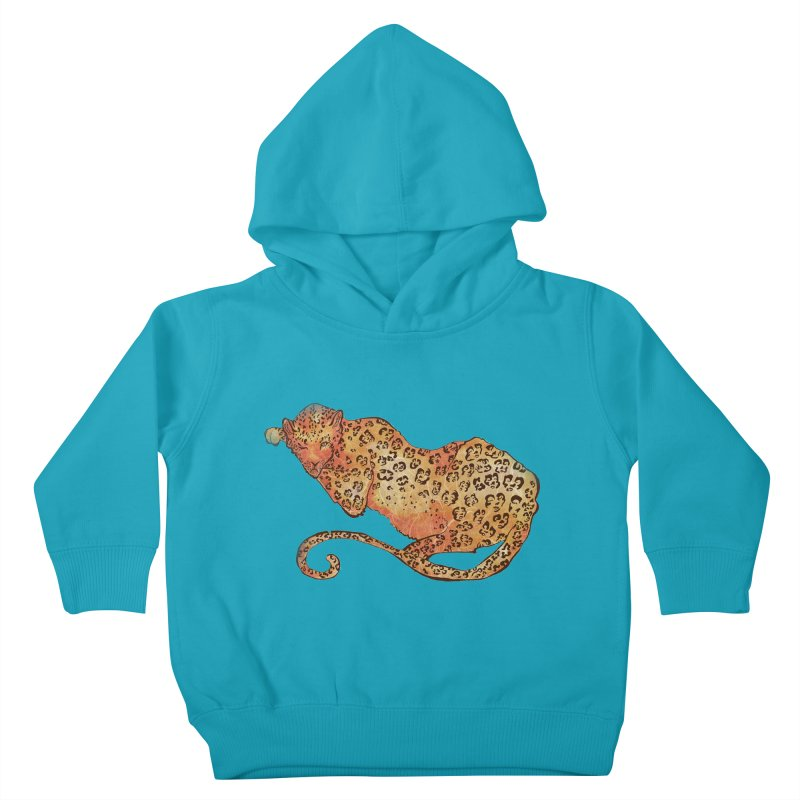 Leopard Kids Toddler Pullover Hoody by JordanaHeney Illustration