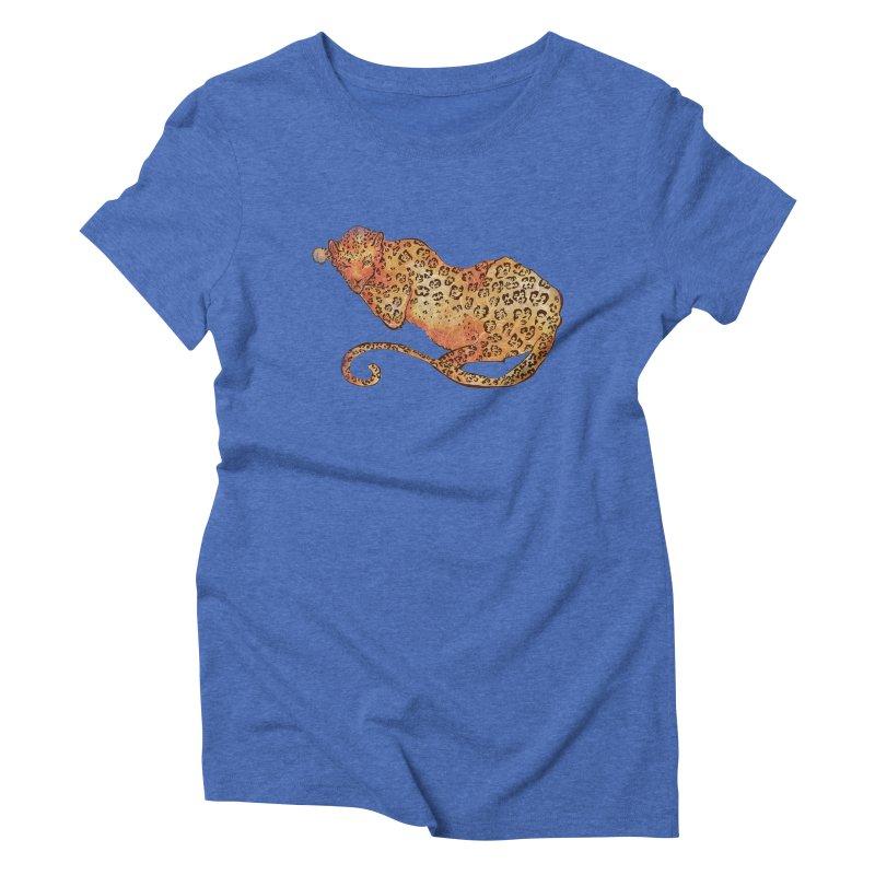 Leopard Women's Triblend T-Shirt by JordanaHeney Illustration