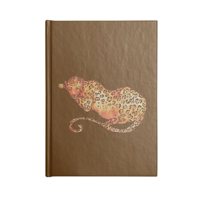 Leopard Accessories Notebook by JordanaHeney Illustration