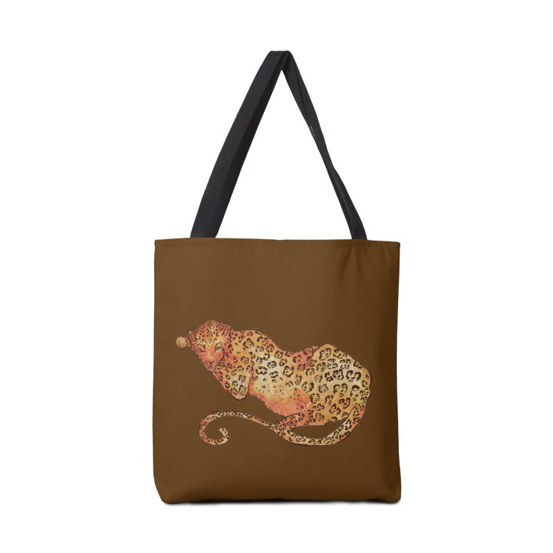 Leopard Accessories Bag by JordanaHeney Illustration